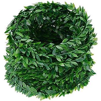 7.5 M de hiedra artificial guirnalda hoja verdes mil usos, manualidades, jardin vertical, decoracion, cocina baños terrazas escaparates bodas escaleras de CHIPYHOME: Amazon.es: Bricolaje y herramientas