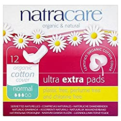 Natracare Organic Cotton Ultra Extra Normal Pads with Wings 12 per pack Natracare Quantity: 1