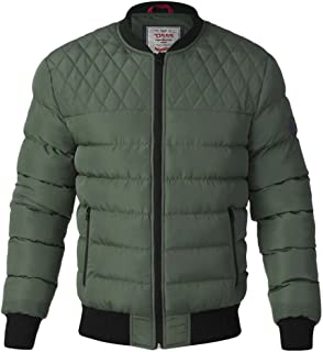 D555 BY DUKE MENS QUILTED BOMBER JACKET KHAKI CHARCOAL S M L XL XXL (133573)