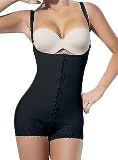 Women Seamless Bodysuit Shapewear Thong Girdle Colombia Open Bust Firm Control Faja Body Shaper