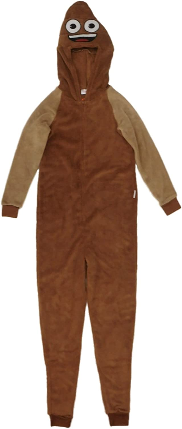 Emoji Poop Union Suit Pajamas Halloween Costume