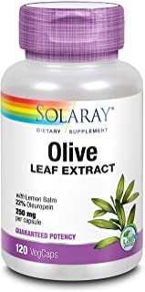 Solaray Olive Leaf Extract 22% Supplement, 250 mg | 120 Count
