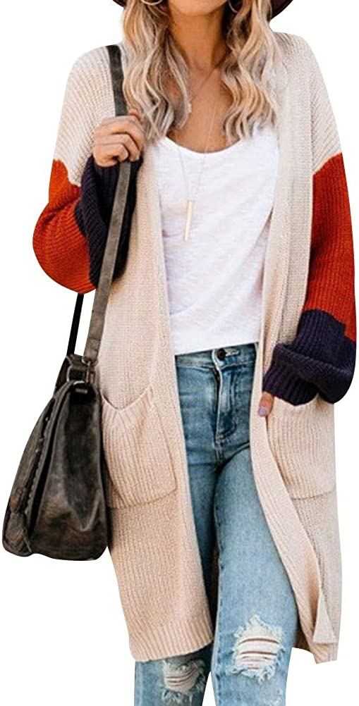 Women's Long Sleeve Open Front Many popular brands Sweater Ou Some reservation Knitted Light Cardigan