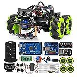 OSOYOO Mecanum Wheels Robot Car Kit for Arduino Mega2560 Omni Wheels Robotic   Stem Remote Controlled Educational   Mechanical DIY Coding for Kids Teens Adults