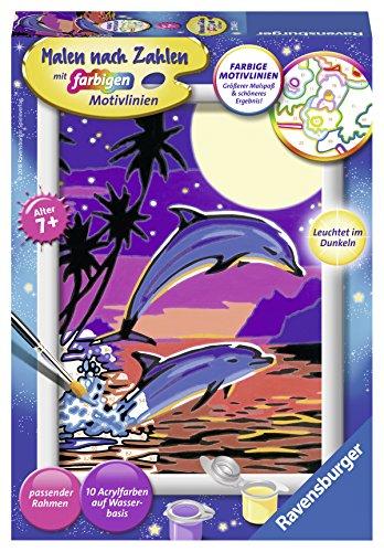Ravensburger Malen nach Zahlen 27845 - Delfine - Für Kinder ab 7 Jahren