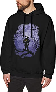 Zelda Majora's Mask Mens Long Sleeve Sweatshirts Men's Hoodies Black