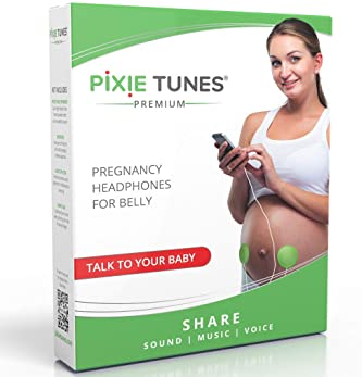Pixie Tunes Premium High-Fidelity Baby Bump Speaker System to Play Sound, Music and Talk to Your Baby in The Womb; Co...
