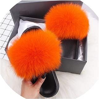 Surprise S Slides Indoor Flip Flops Casual Shoes Woman Raccoon Fur Sandals Plush Shoes