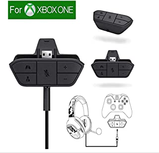 Xbox Stereo Headset Adapter Audio Game For Microsoft One Controller Dr - Chat And Synchronous One Stereo Headphone Accreate Best Converter
