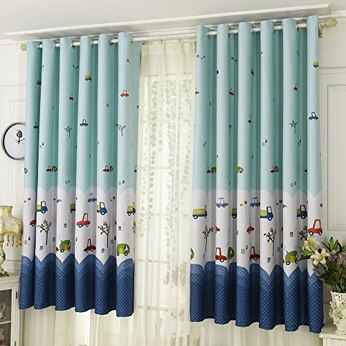 Wingbind Blackout Häkeln Vorhänge, Blume Cartoon Gemusterten Weichen Vorhang für Kinderzimmer, Wohnzimmer, Schlafzimmer Dekor 100 * 200 cm