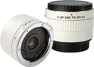 Telephoto Lens Extender C-AF 2XII Teleplus Auto Focus Tele-Converter Lens for Canon EF Mount Lens n DSLR Camera 7D 6D 7DII 80D 5D2 5D3 5DS 5DSR 1DMark I/II/III/IV 1DS Mark I/II/III 1DX