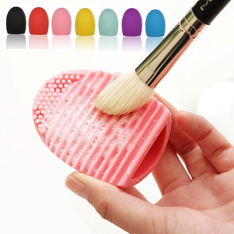 Smato 化粧ブラシクリーナー シリコン洗濯板 Brushegg メイクツール 清掃道具 洗浄ブラシ 清掃ブラシ (レッド)