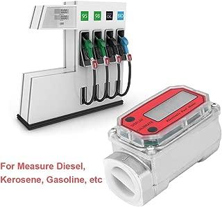 1″ Digital Turbine Flow Meter,Gas Oil Fuel Flowmeter,Pump Flow Meter ,Diesel Fuel Flow Meter,High Accuracy,for Measure Diesel, Kerosene, Gasoline, etc.(Red)