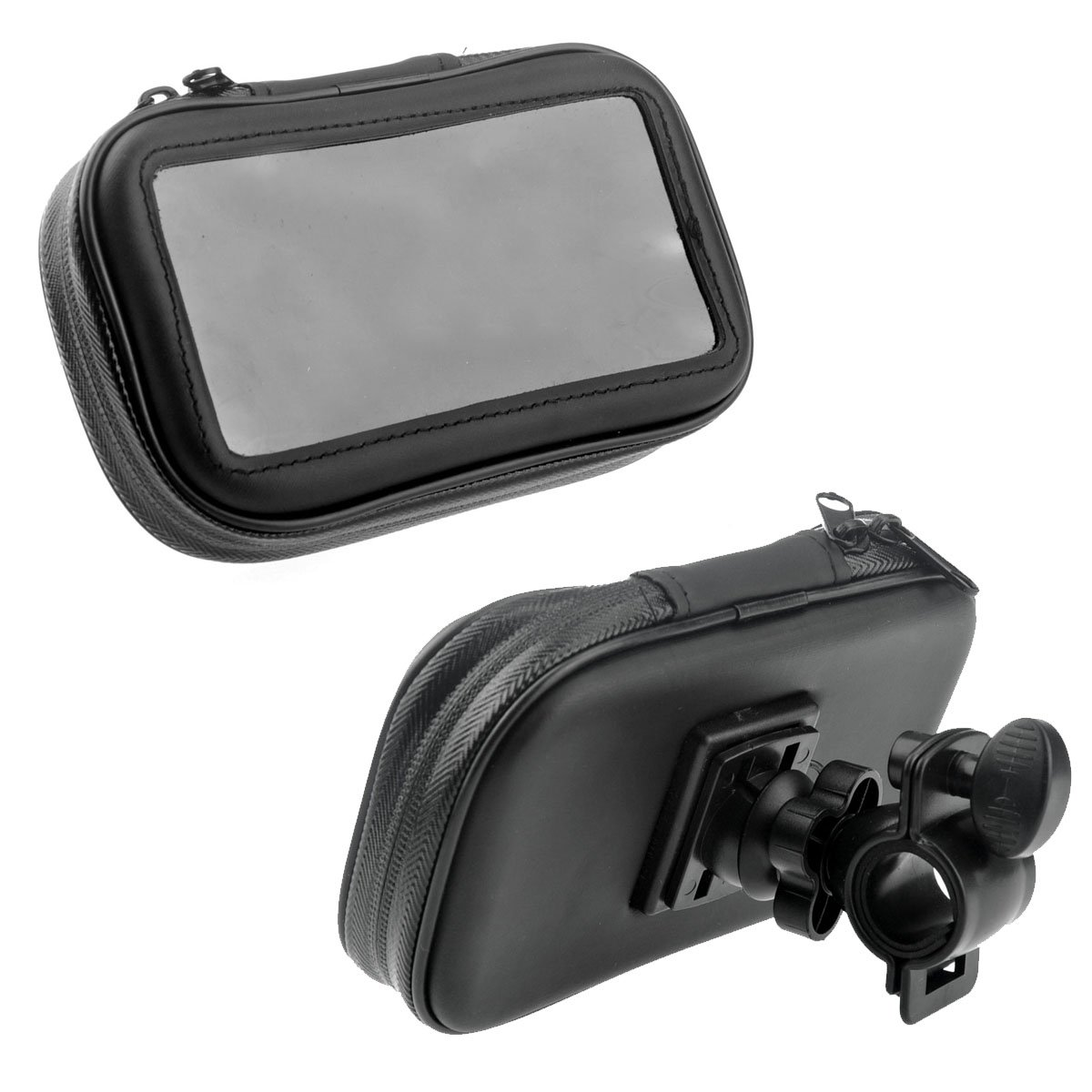 Tinksky móvil para bicicleta, moto, bicicleta bolsa Caja estanca con tapa y función atril para tablet de 4,3
