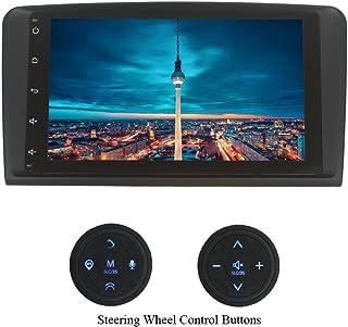 XISEDO Android 7.1 Autoradio 9' Car Radio 1 Din Autonavigation RAM 2G Car Stereo mit Vollem 9 Zoll Touchscreen für Mercedes Benz ML/GL (mit Lenkrad Steuertasten)