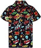 Funky Camisa Hawaiana, BoomBang, multiblack, XL
