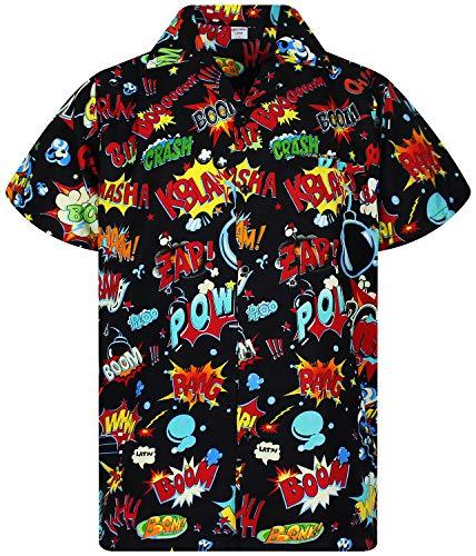 Funky Camisa Hawaiana, BoomBang, multiblack, L