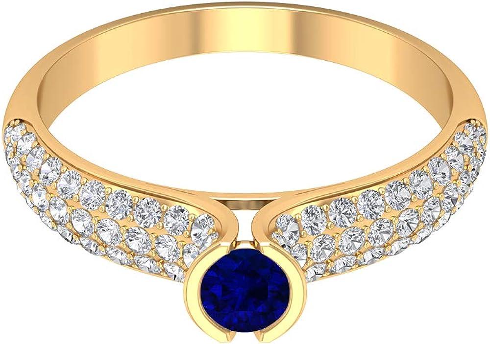 September Birthstone Cheap SALE Start - 4.00 MM Blue HI- Sapphire Ring Solitaire Indefinitely