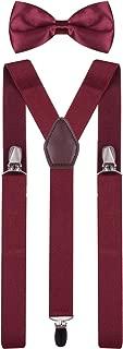 Mens Kids Suspenders and Bow Tie Set Adjustable Y Back for Wedding