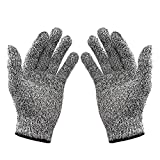 Ubei 5-Level Cut Resistant Gloves Food Grade Safety Cutting Gloves for Kitchen Cut