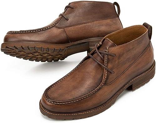 ZHRUI botas Chukka clásicas para Hombre Durable, Antideslizante, zapatos de Suela Suave y cómoda (Color   marrón, tamaño   EU 42)