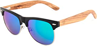 Wooden Eco Polarized Sunglasses - Semi Rimless