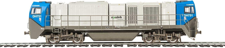 Mehano 58898 HGK asymmetrisch - DC Vossloh G2000, Blau and Silber, H0