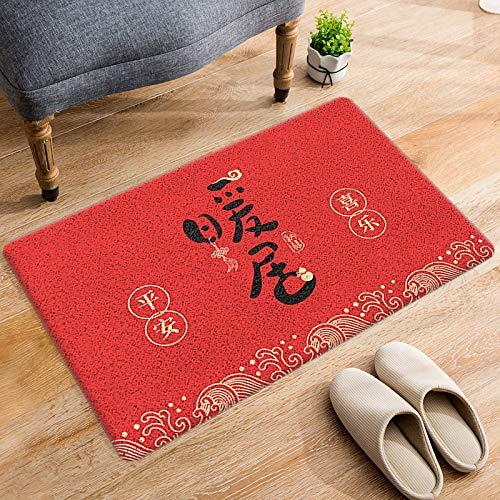 DRTWE Alfombra de terciopelo suave, con letras chinas, para sala de estar, dormitorio, antideslizante, cálida, para yoga, meditación, para niños, 120 x 160 cm