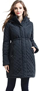 Momo Maternity Outerwear Women's Prue Quilted Parka Coat Pregnancy Winter Jacket