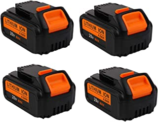 4000mAh 20V DCB204 Battery Replacement for Dewalt 20-Volt MAX XR Batteries DCB205 DCB200 DCB203 DCB206 DCB204BT-2 DCB201 20Volt Lithium Dewalt Battery, 4-Pack
