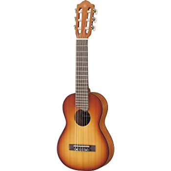 """Yamaha GL1 Guitalele - Chitarra in Legno con Dimensioni Ukulele (43,2 cm, scala da 17"""") - 6 Corde (3 in nylon/ 3 in acciaio), Custodia Inclusa, Da Viaggio, Tobacco Sunburst"""