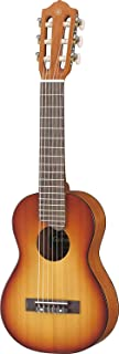 Yamaha GL1 Guitalele Mini Guitarra de Madera con las dimensiones de un Ukelele, escala de 17 pulgadas, 6 cuerdas (3 en nylon / 3 en acero), Color Marrón (Tobacco Brown Sunburst)