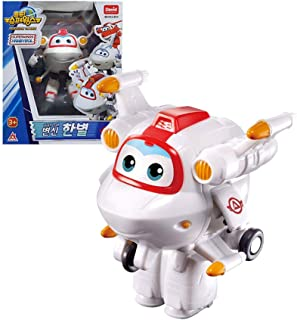 "David toy Super Wings Season 3 Airplane Transforming Robot Toy Action Figures for Boy Girls Kids (White, 5"") HanByeol"