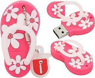 128GB Flash Drive Pink Slippers Shoes Shape USB 2.0 Novelty Pendrive Memory Stick Data Storage Thumb Drive U Disk Cool Des...
