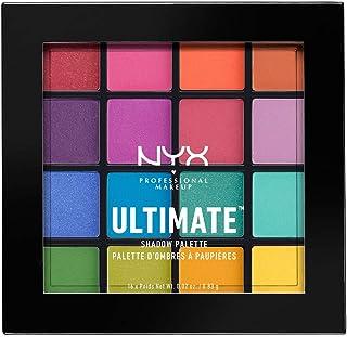 Paleta de sombras,Ultimate Shadow Palette, Nyx Professional Makeup, Tono Brights 13g
