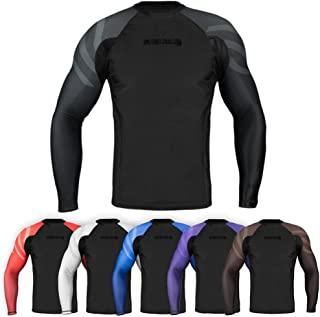 Sanabul Essentials Long Sleeve Compression MMA BJJ Wrestling Cross Training Rash Guard