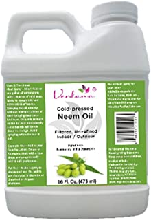Verdana Cold Pressed Neem Oil 16 Fl. Oz - Unrefined, Filtered - High Azadirachtin Content - 100% Neem Oil, Nothing Added or Removed - Indoor/Outdoor Leafshine, Pet Care, Skin Care, Hair Care