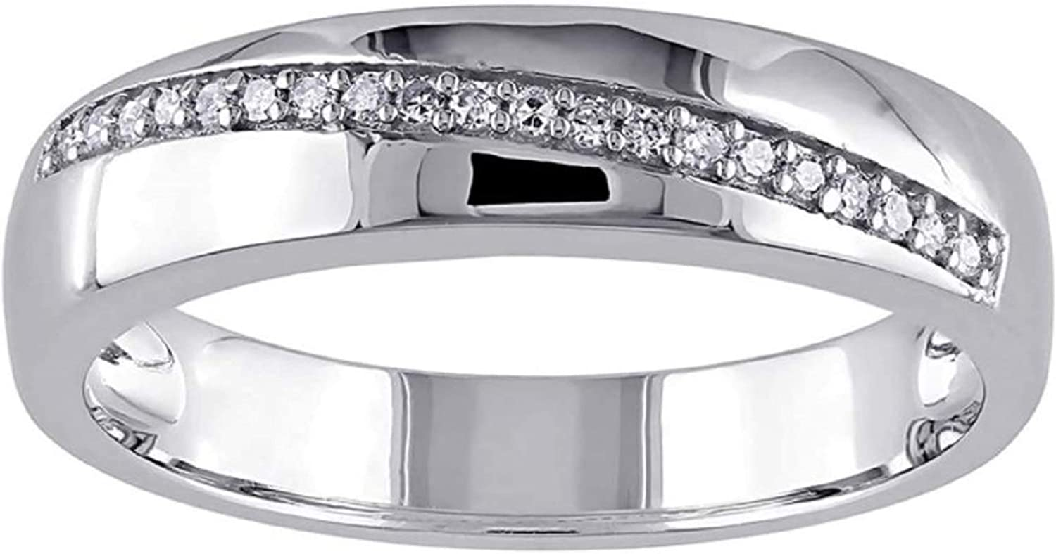 Elegant 14K Credence White Gold Plated Sterling Silver Cut ct Round 0.25 Created