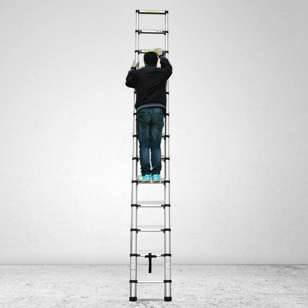 Femor Escalera Telescópica de Aluminio Portátil Multiuso Folding Ladder (3,2 M, Extensible): Amazon.es: Bricolaje y herramientas