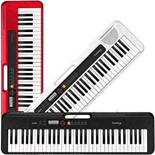 Casio Casiotone, 61-Key Portable Keyboard with USB, RED (CT-