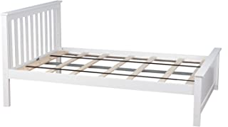 Best full size white wood bed frame Reviews