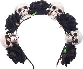 FRCOLOR Tiaras Do Dia Das Bruxas Faixa de Cabelo Flor Crí¢nio Design Aros de Cabelo Dia Dos Mortos Boné Acessórios de Cabe...