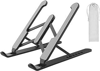 S/V Laptop stativ höjd justerbar vikbar bärbar laptopstativ notebook datorstativ kompatibelt med alla bärbara datorer, tel...