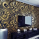 HANMERO 3D diseño Papel Pintado Moderno con Dibujos de Rayas Curvas no Tejido Papel...