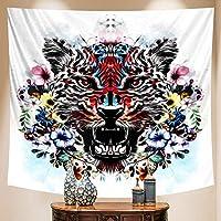 シーンホームアートデコレーション動物タペストリーボヘミアンデコレーションシートソファブランケット壁デコレーションヨガマット150x170cm