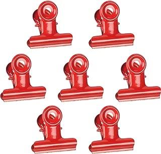JAM PAPER Metal Bulldog Clips - Medium - 31mm - Red - 15/Pack