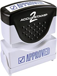 ACCU-STAMP2 Message Stamp with Shutter, 1-Color, APPROVED, 1-5/8