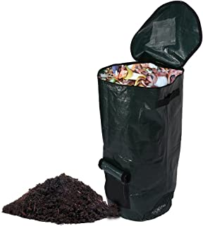 "SYOOY Collapsible Compost Bin Yard Waste Bag Composting Fruit Kitchen Waste Fermentation Cali Secrets Growers Bags 16 Gallon 13.8"" x 23.6"""