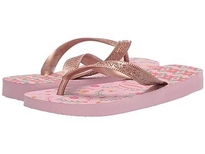 Havaianas Kids Flores Sandals (Toddler/Little Kid/Big Kid) (Crystal Rose/Rose Gold Metallic) Girls Shoes