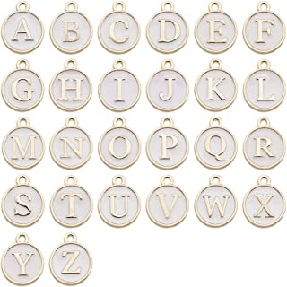 Initial letter Circular charm,Metal Silver Plated,Initial Letter Add On Initial Charm,Letter Charms,letters for Bracelet,Keychain,Necklace